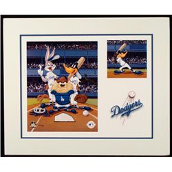 Looney Tunes Lithograph LA Dodgers Taz Bugs Daffy LE