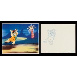 Fred Pissed Drawing Cel Production Flintstones Original