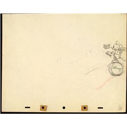 Mickey Mouse Original Production Drawing Disney Balance