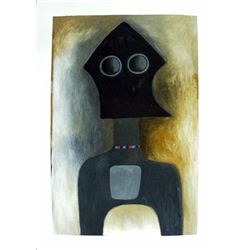Ephrem Kouakou : Untitled XVII (Black Figure Necklace)