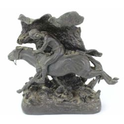 "Frederic Remington bronze ""Horse Thief"" originally created in 1907 and one of Remington rarest, this"
