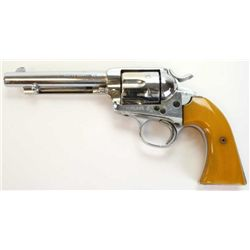 "Colt Bisley .45 Colt cal. SN 235703 revolver 5 1/2"" barrel, renickeled finish, faux ivory grips. Fea"