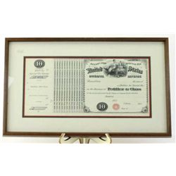 "Unissued 1873 Cigar Peddler double matted and framed, 7"" X 14"", a great edition for the cigar collec"