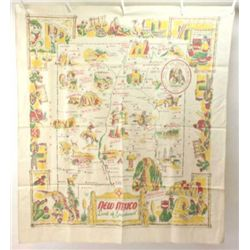 "Collection of 10 vintage table linen includes minty cotton table cloth 50"" X 62"" with Mexican motif"