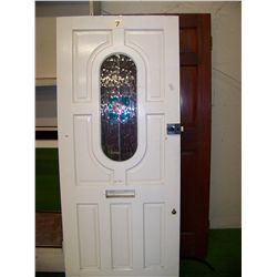 Old Entry Door From British Home, 76 x32.75 x1.375 