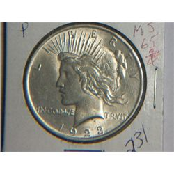 1923 P PEACE DOLLAR