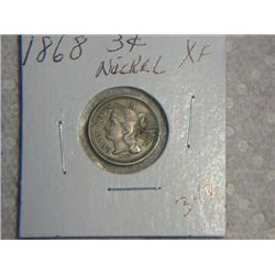 1868 3 CENT NICKLE