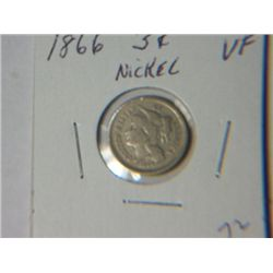 1866 3 CENT NICKLE