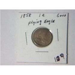 1858 FLYING EAGLE CENT