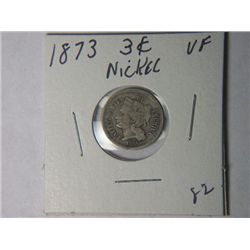 1873 3 CENT NICKLE