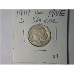 1914 S BUFFALO NICKLE