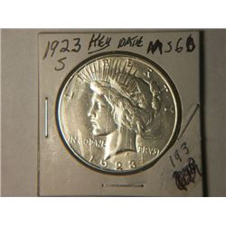 1923 S PEACE DOLLAR