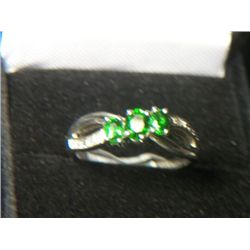 RUSSIAN DIOPSIDE DIAMOND RING SIZE 8