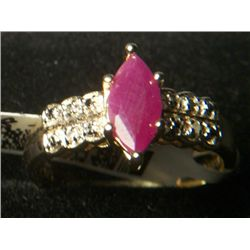 RUBY RD DIAMOND ACCENT RING SIZE 8