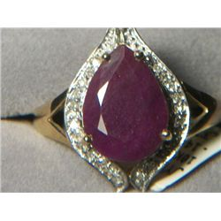 10k GOLD RUBY RING SIZE 8