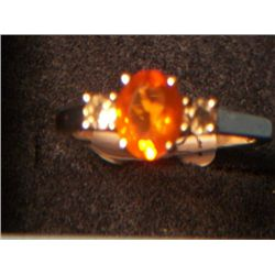 MEXICAN FIRE OPAL RING SIZE 8