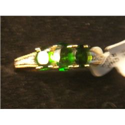 10k GOLD RUSSIAN CHROME DIOPSIDE RING SIZE 7.5