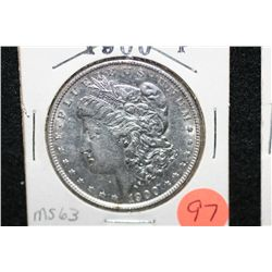 1900 Silver Morgan $1, MS63