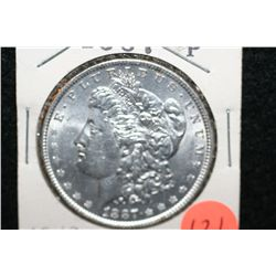1887 Silver Morgan $1, MS63