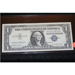 1957-B US Silver Certificate $1, Blue Seal, #V00117870A