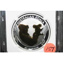 2011P Gilt Australia $1 Koala, NGC graded MS69