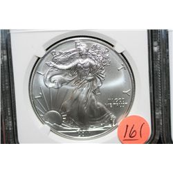 2011-S Silver Eagle $1, NGC graded MS70