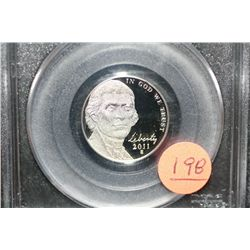 2011-S First Strike Jefferson nickel, PCGS graded PR69 DCAM