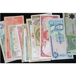 Foreign Bank Note, various dates, conditions & denominations, lot of 20