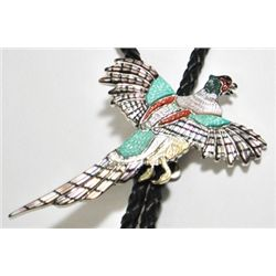 Zuni Multi-Stone Flying Bird Bolo - Andrea Shirley