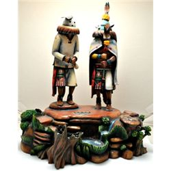 Hopi Global Warming Cottonwood Kachina - Sterling