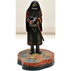 Hopi So'yok Wuuti Enforcer Cottonwood Kachina - Sterling