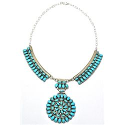 Navajo Turquoise Cluster Necklace - Juliana Williams