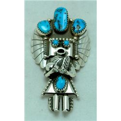 Navajo Turquoise Chief Pendant & Pin
