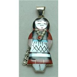 Zuni Multi-Stone Female Pendant