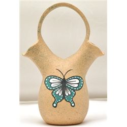 Zuni Double-Fluted Butterfly Pottery - Tony Lorenzo