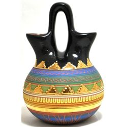 Navajo 12k Gold Filled Double-Fluted Etched Pottery - Carol Torres