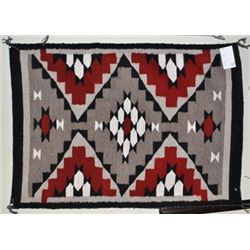 Navajo Red & White Rug - Meda Nez