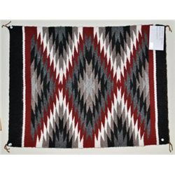 Navajo Red & White Eye Dazzler Rug - Charmaine Harrison