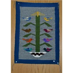 "Navajo Multi-Color Birds ""Tree of Life"" Rug"