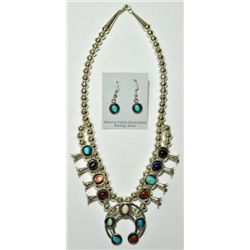 Navajo Multi-Stone Small Necklace & Earrings Set - Lenore Garcia