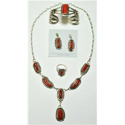 Navajo Coral 4-Piece Set - Eugene Belone