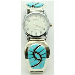 Zuni Turquoise Men's Watch - Amy Quandelacy
