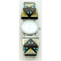 Zuni Multi-Stone Gold Tone Men's Watch - Leander & Lisa Otholi