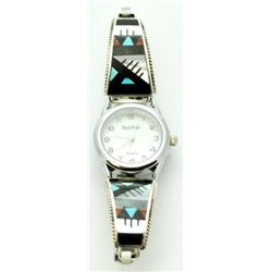 Zuni Multi-Stone White Tone Women's Watch - Leander & Lisa Otholi