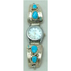 Zuni Turquoise Women's Watch - Effie Calavaza