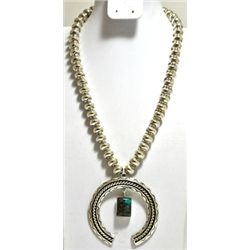 Old Pawn Kingman Turquoise Sterling Silver Necklace - LP