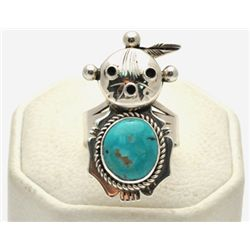Old Pawn Turquoise Mud Head Women's Ring