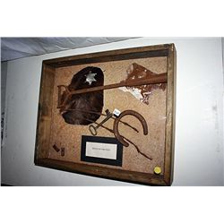 Original Relics of the West Shadowbox Morgan Earp