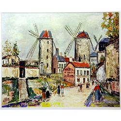 Maurice Utrillo Signed Limited Edition - WINDMILLS