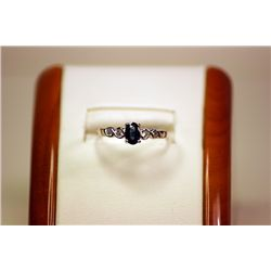 Lady's Beautiful 14kt White Gold Alexandrite 3 Color Change Ring